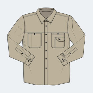 Long Sleeve Button Down - FR Apparel from Axe Work Wear