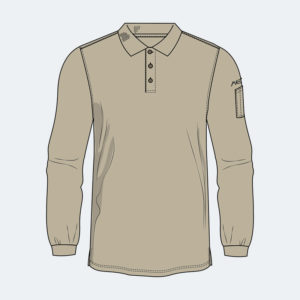 Long Sleeve Polo - Axe Work Wear
